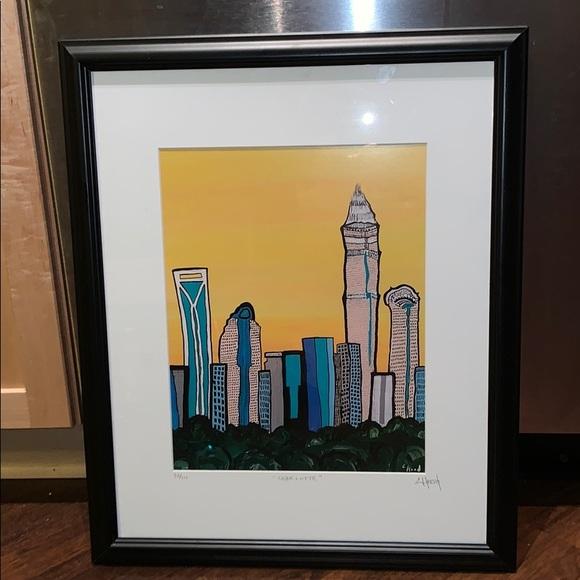 Chris Hood Other - Charlotte Skyline Painting